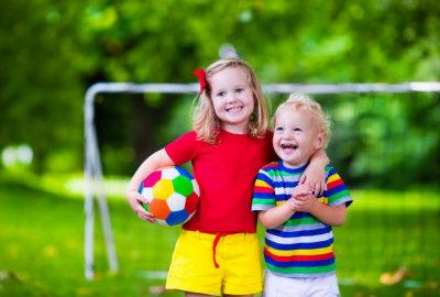 happy kids having fun